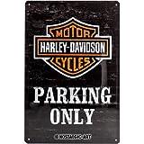 Nostalgic-Art 22231 |Tin Sign Wall Plaque 20x30cm | Harley-Davidson Parking Only