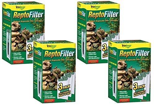 Tetra ReptoFilter Filter Cartridges, Medium, 12 Total Cartridges (4 Packs with 3 per Pack)