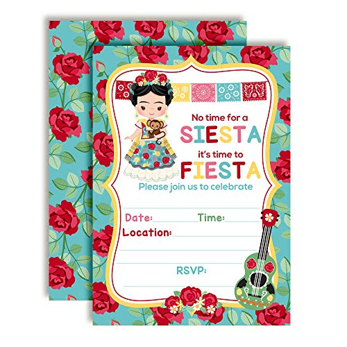 Frida Kahlo Fiesta Themed Birthday Party Invitations, 20 5
