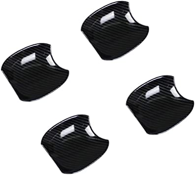 Beautost Fit For Toyota New RAV4 2019 2020 Door Handle Cover Trims ABS Carbon Fiber Black