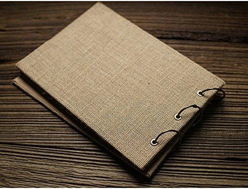 DEBON Multi-purpose Retro Burlap Photo Album DIY Manual Scrapbook (Rectangle)