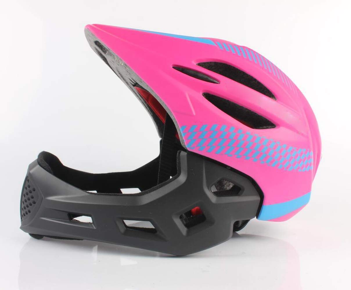 Kids Helmets, Children's Safety Bike Helmets Cycling Skating Scooter for Girls/Boys (for 48-52cm) (Color : Pink)