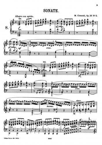 Download 3 Piano Sonatas, Op.36 - Sonata No.3 PDF