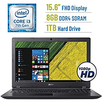 Image of 2018 Newest Acer Aspire 5 A515 15.6-inch FHD(1920x1080) Display Laptop PC, 7th Gen Intel Dual Core i3-7100U 2.4GHz Processor, 8GB DDR4 SDRAM, 1TB HDD, 802.11ac WiFi, HDMI, Webcam, Windows 10 Traditional Laptops