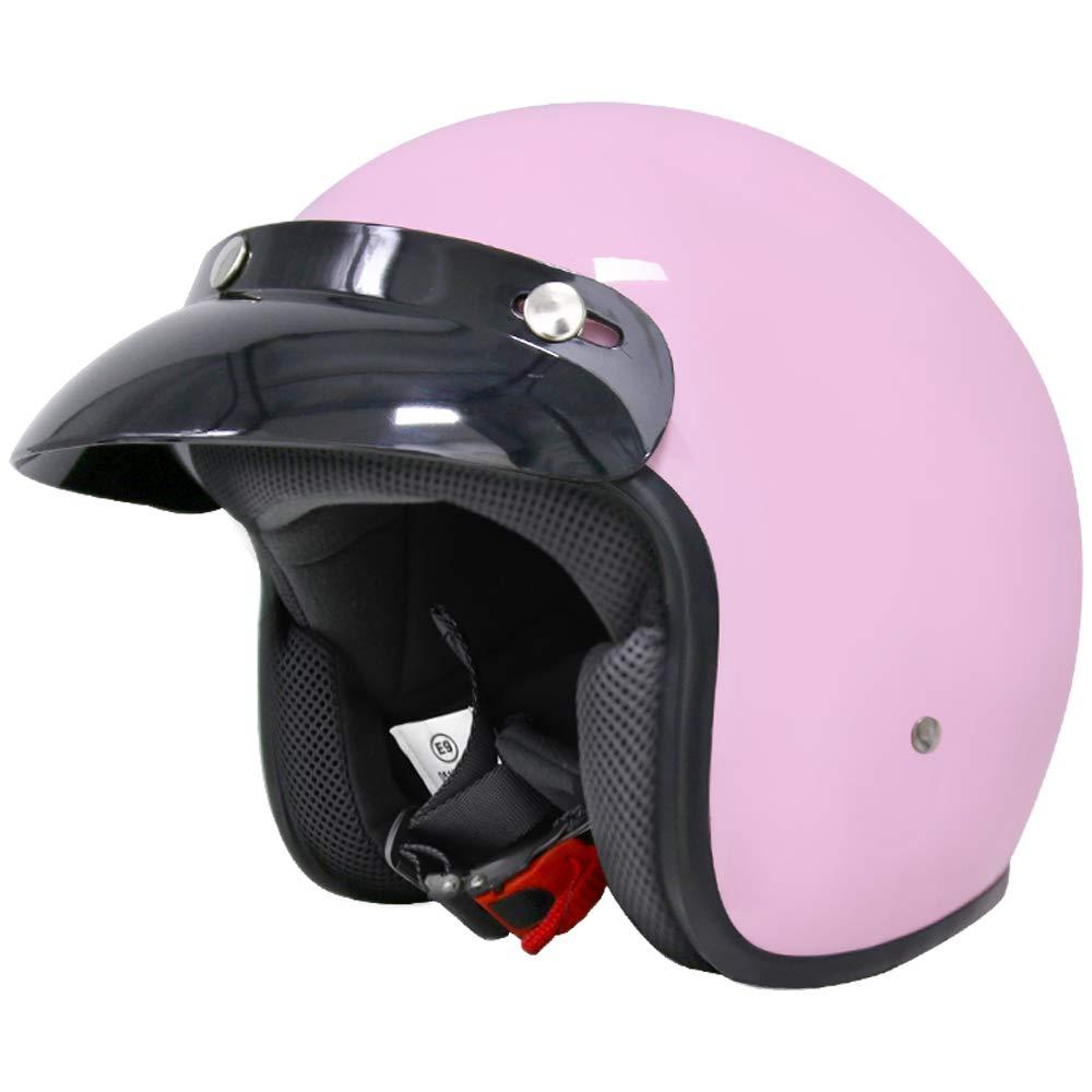 #08 USA S Leopard LEO-604 Open Face Motorcycle Motorbike Helmet Road Legal 55-56cm