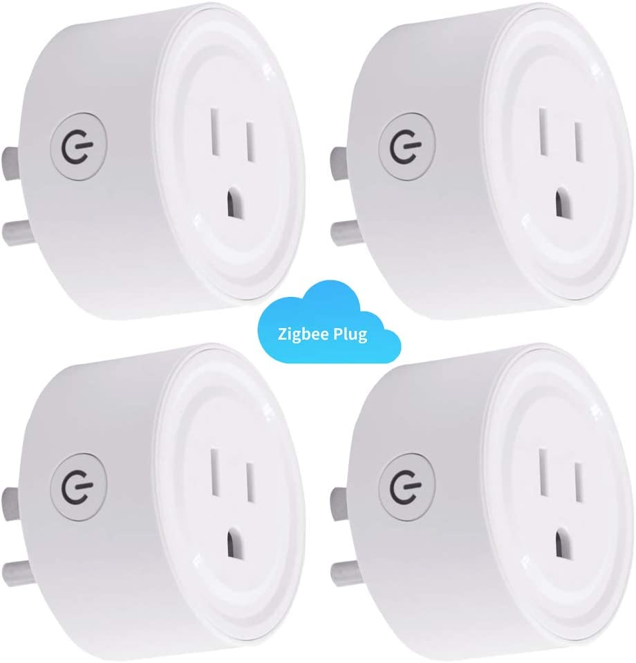 [4PC] Zigbee Smart Plug Outlet Compatible With Alexa, Echo, SmartThings Hub, alexa outlet,Smart switches Remote Control Your Home Appliances from Anywhere,alexa accessories