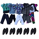 ken doll clothes and accessories - Ken Doll Clothes, Himez Boy Doll Clothes Ken Doll Outfits Clothes for Ken Doll Including 5 Sets Fashion Jacket Tops Pants and 5 Pairs Black Shoes for Barbie's Boy Friend Doll Clothes Accessories