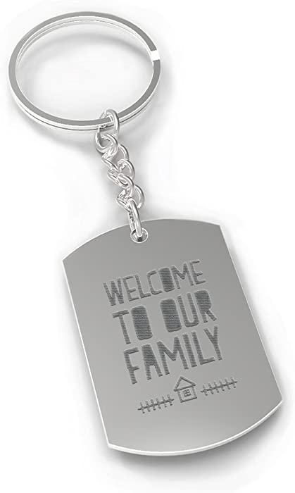 Amazoncom Welcome To Our Family Key Chain For Daughter In Law Or