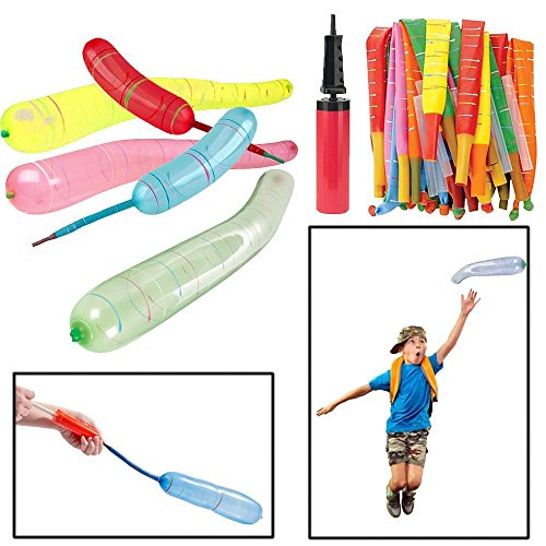 Toy Cubby Balloons and Pump - Pack of 30 Balloons - Bulk - Amazing Colorful Rocket Balloons with Pump - Birthdays | Holidays | Schools | Parties | Fillers | Kids | Adults | Teens... -