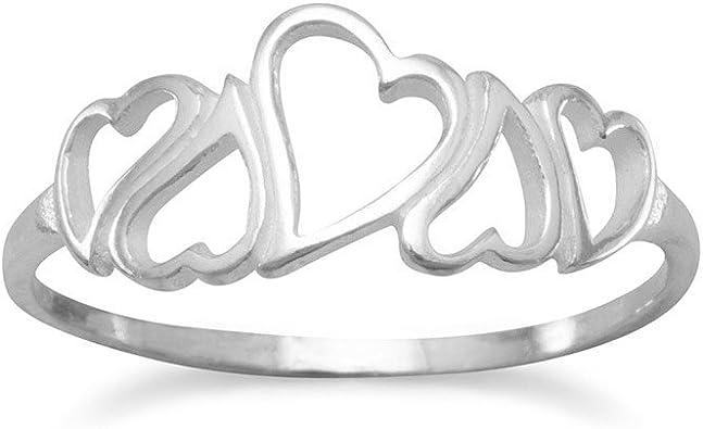 anello cuore cuori argento 925   REGOLABILE hearth ring