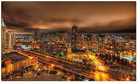 Casas de Estados Unidos California San Diego desde arriba noche Megapolis ciudades Tourist Souvenir muebles & decoración imán imanes de nevera: Amazon.es: Hogar