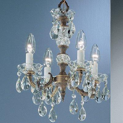 Classic Lighting 5534 RB SGT Madrid, Crystal Cast Brass, Mini-Chandelier, Roman Bronze