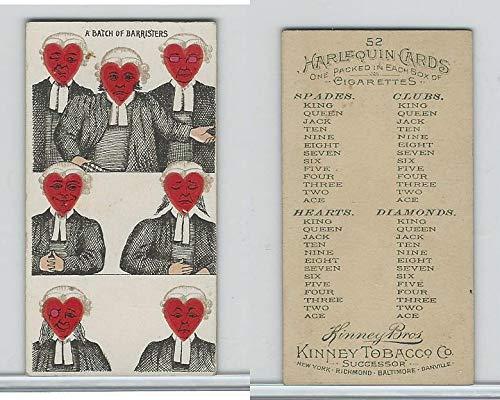 N219 Kinney, Harlequin Cards, 1888, Heart 7, Batch Barristers ()