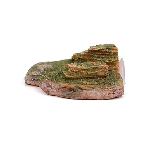 Amazon.com : ZCHXD Lifelike Rock Stone Decor Aquarium Turtle Tank ...