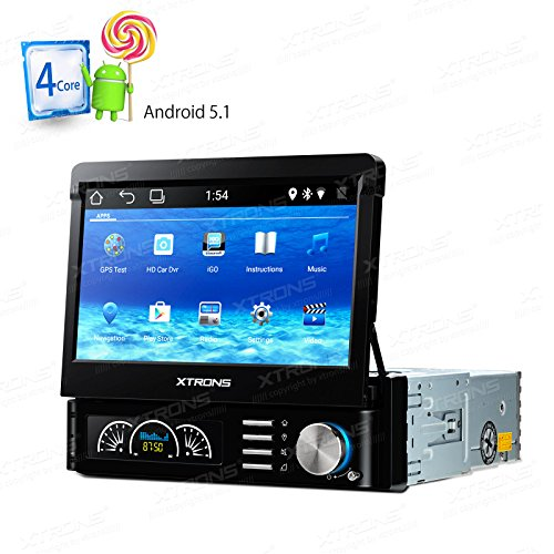 XTRONS Single 1 DIN Android 5.1 Quad Core 7 Inch Car Ster...