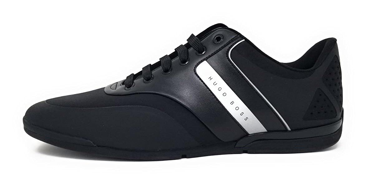 60ebd28add Amazon.com: Hugo Boss Men's Saturn Lowp Neo Black Size 12.0 US: Shoes