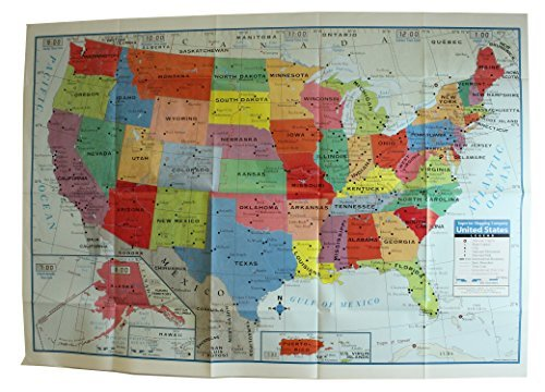 Kappa United States Wall Map USA Poster, Home/School/Office Kappa Map