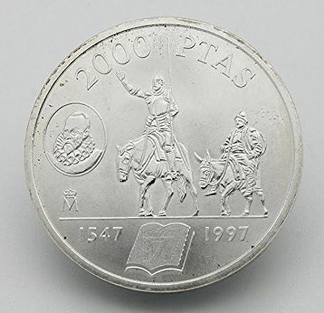 Desconocido Moneda de 2000 Pesetas de Plata Edición Don Quijote y Sancho Panza del Año 1997: Amazon.es: Juguetes y juegos