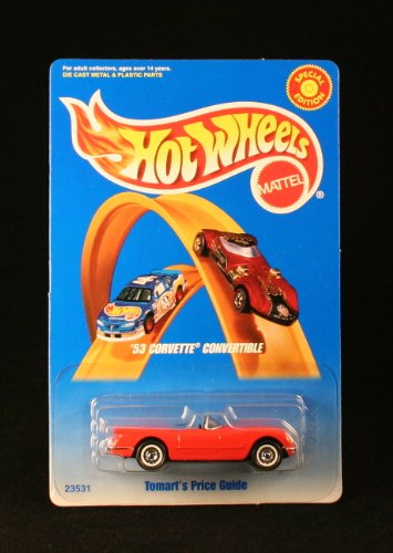 ('53 CORVETTE CONVERTIBLE * TOMARTS'S PRICE GUIDE * Exclusive 1998 Hot Wheels Special Edition 1:64 Scale Die-Cast Vehicle)