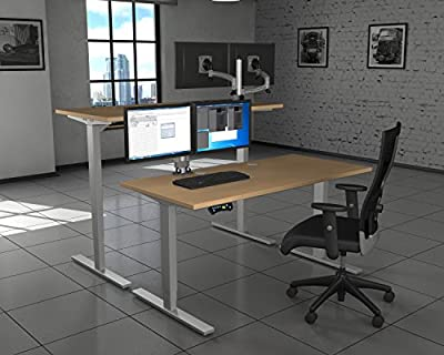 Merge Works HighRise, Heavy Duty, Electric Height Adjustable Base for Sit to Stand Desk
