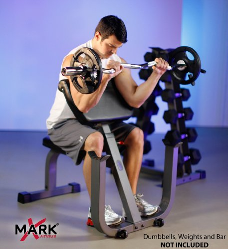 XMark Seated Preacher Curl Weight Bench XM-4436 by XMark Fitness (Image #4)