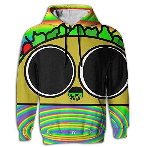 Men's Pullover Hooded Sweatshirt Acidic Taco Hoodies Cozy Drawstring Kangaroo Pockets Prime Exclusive
