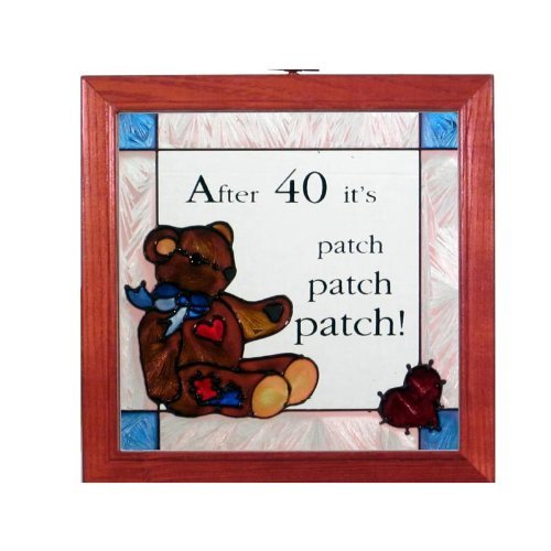 Teddy Bear After 40 Stained Glass Panel - Stained Bear Glass Teddy
