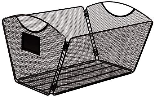 Safco Products 2163BL Onyx Mesh Desktop Tub File, Legal Size, Black