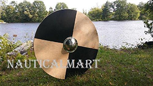 NauticalMart Renaissance Armor 25'' Basic Viking Round Shield - LARP by NAUTICALMART
