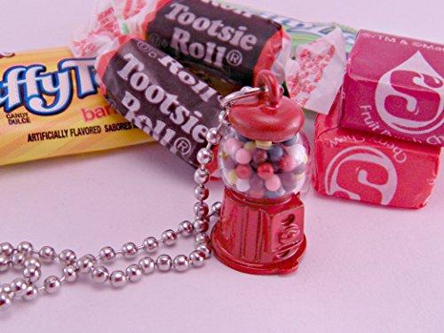 Itty Bitty Gumball Machine Necklace with 18 Inch Ballchain Kawaii Kitsch