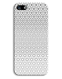 Symetrical Gold & White Pattern Design 3D Printed Design iPhone 5 5S Hard Case Protective Cover Shell