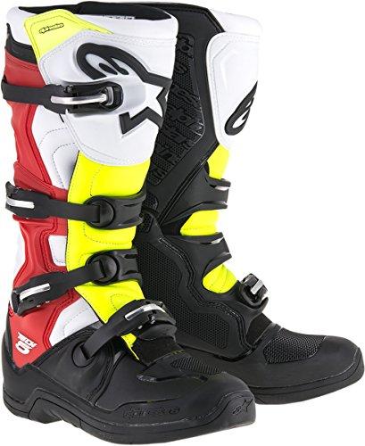Alpinestars Tech 5 Boots-Black/Red/Yellow-14 by Alpinestars