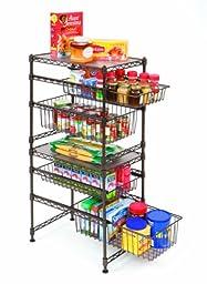 Seville Classics Double Basket Stackable Cabinet Organizer, 11.5\