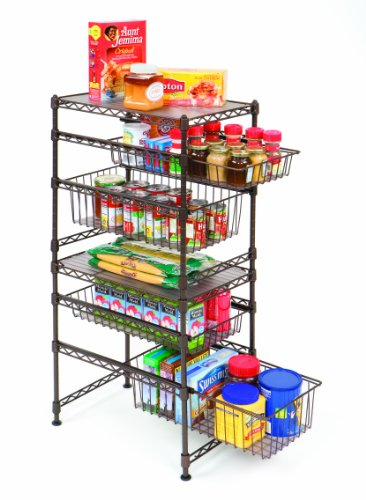 Seville Classics She05122 11-1/2-Inch by 17-1/2-Inch by 18-1/2-Inch Stackable Kitchen Cabinet Organizer