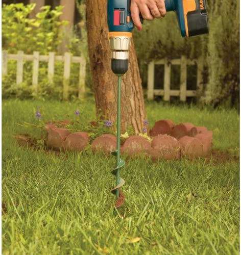 """Yard Butler Roto Earth 18"""" Aerating Irrigating Planting Auger Drill Bit Digs Holes For You, REA-4"""
