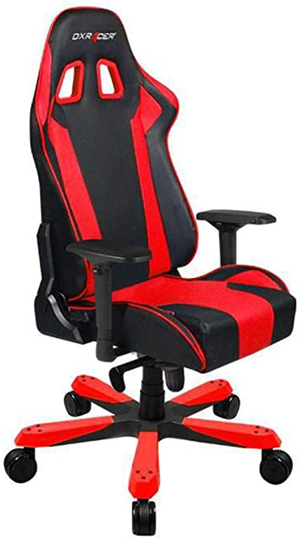 DXRacer OH/KS06/NR Black & Red King Series Gaming Chair Ergonomic High  Backrest Office Computer Chair Esports Chair Swivel Tilt and Recline with  Headrest and Lumbar Cushion + Warranty: Amazon.co.uk: Kitchen & Home