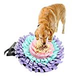 Highjump Snuffle Mat for Dogs - Feeding Mat for Dogs - Training Encourages Natural Foraging Washable Training Blanket Dog Smelling Mat