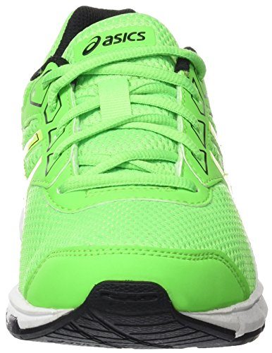 Gecko Unisex 9 Asics Gs Gel Kids' Top Black Low Green Green Yellow Galaxy Sneakers Safety PwSqUd