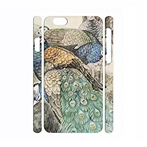 Warm Bird Series Peacock Pattern Personalized Hard Plastic Phone Accessories for Iphone 6 Plus - 5.5 Inch by mcsharks