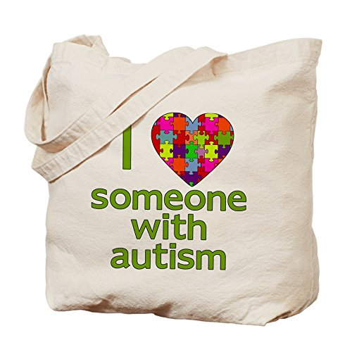 CafePress–I Love alguien con autismo–Gamuza de bolsa de lona bolsa, bolsa de la compra