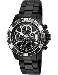 Invicta Men's 'Pro Diver' Quartz Stainless Steel Casual Watch, Color:Black (Model: 22417)