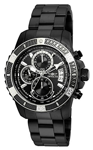 Invicta Men's Pro Diver Quartz Watch with Stainless-Steel Strap, Black, 22 (Model: 22417) ()