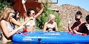Amazon Com Inflatable Floating Pool Party Pong Table