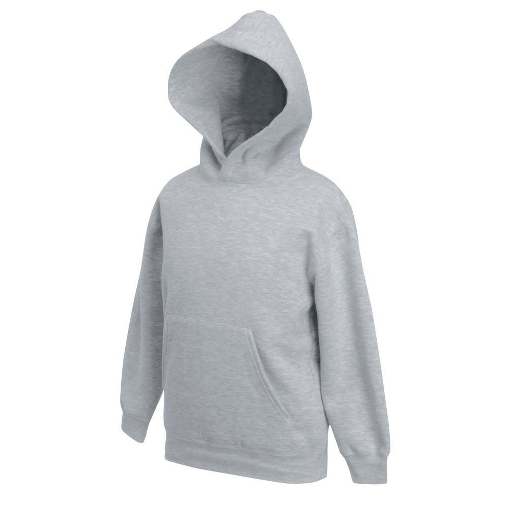 FRUIT OF THE LOOM New Kids Hooded Sweat Set-in Sleeves Hoodie Sweatshirt Top