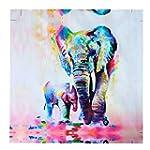 MOHOO 50x50cm Watercolor Elephant Oil...