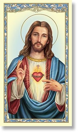 Sacred Heart Holy Card Consecration-10 pack (Of Sacred Card Heart Jesus Prayer)