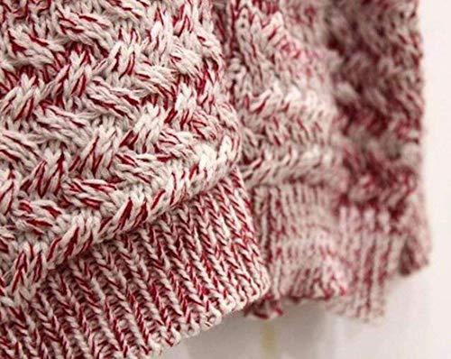 Pullover Rot Alta Qualità Sfumato Imbottita Tasche Colore Lunga Anteriori A Di Donna Manica Maglia neck V Giacca Giovane Moda Maglioni Outwear wx0qWgR