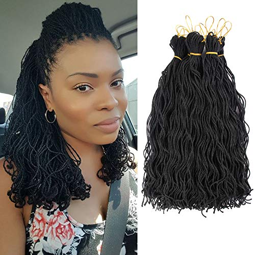 Alileader 40inch Small Dreadlock Hair Thin Dreadlock Mini Locs Curly
