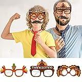 PTFNY 9 Pieces Thanksgiving Turkey Eyeglasses