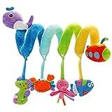 SHILOH Baby Activity Spiral Wrap Around Crib Bed Bassinet Stroller Rail Toy (Sea Animals)
